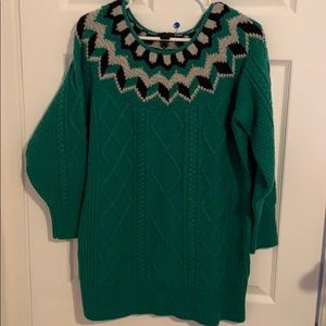 J Crew Cable Tunic length sweater